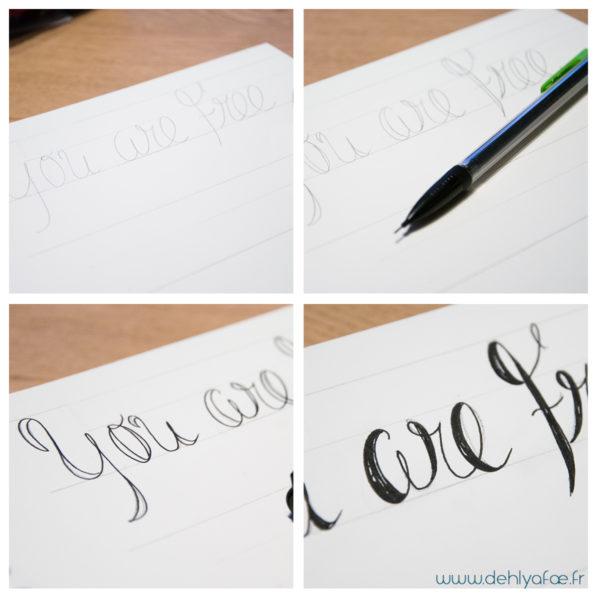exemple de lettering à la main - www.dehlyafae.fr