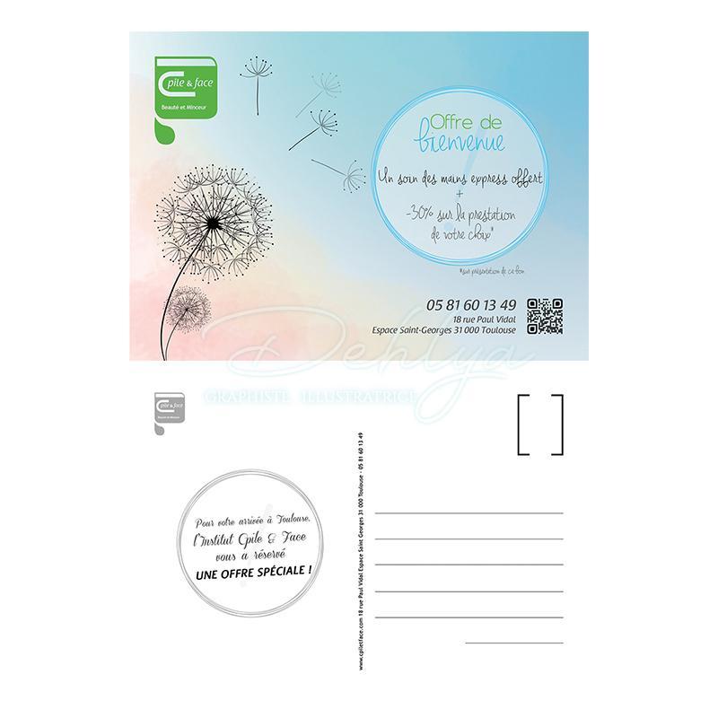 Carte postale// Institut Cpile&Face