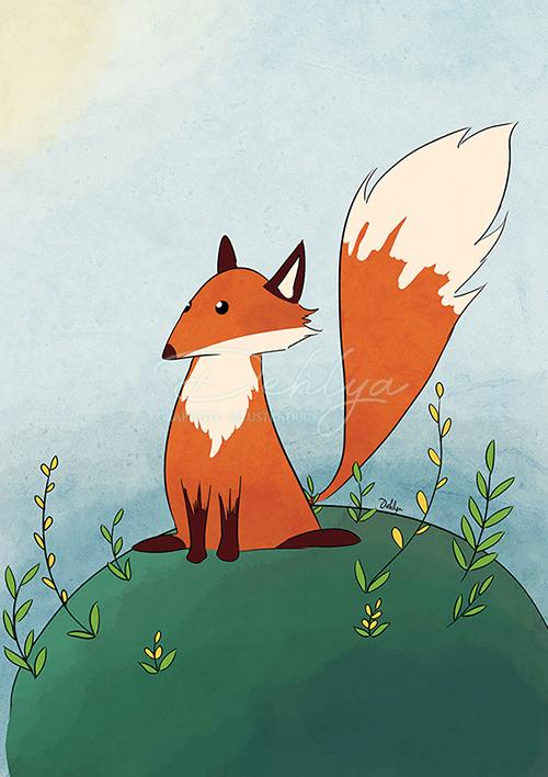 Illustration personnelle - renard sur la colline