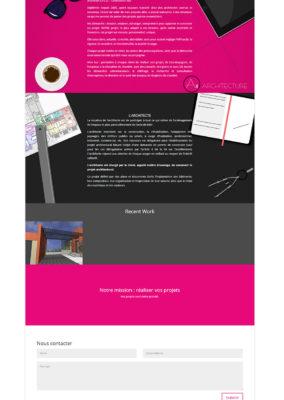 Web// Création du site A1 Archi