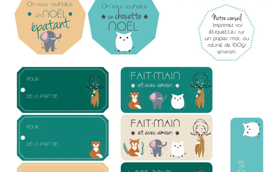 Etiquettes de Noël// Printables gratuits