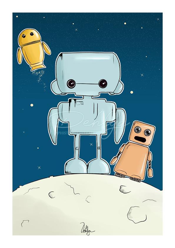 Illustration enfant//Robots