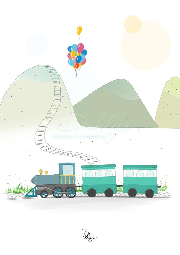 Illustration enfant//Train