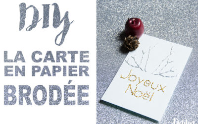 DIY Paper things// Carte brodée