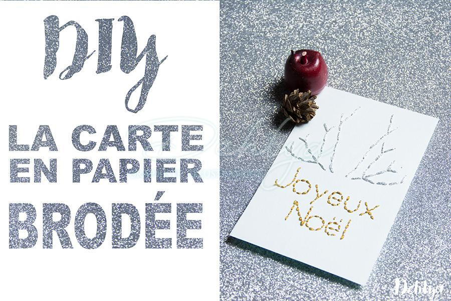 DIY Paper things// Carte brodée