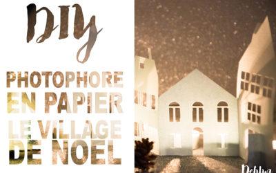 DIY Paper things// Photophore Village de Noël