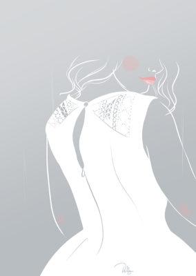 Illustration// White dress