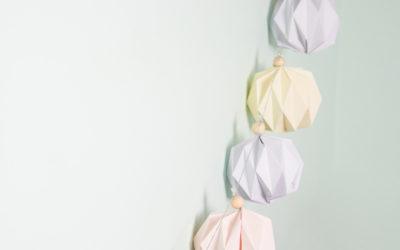 "DIY// Des boules ""diamant"" en origami"