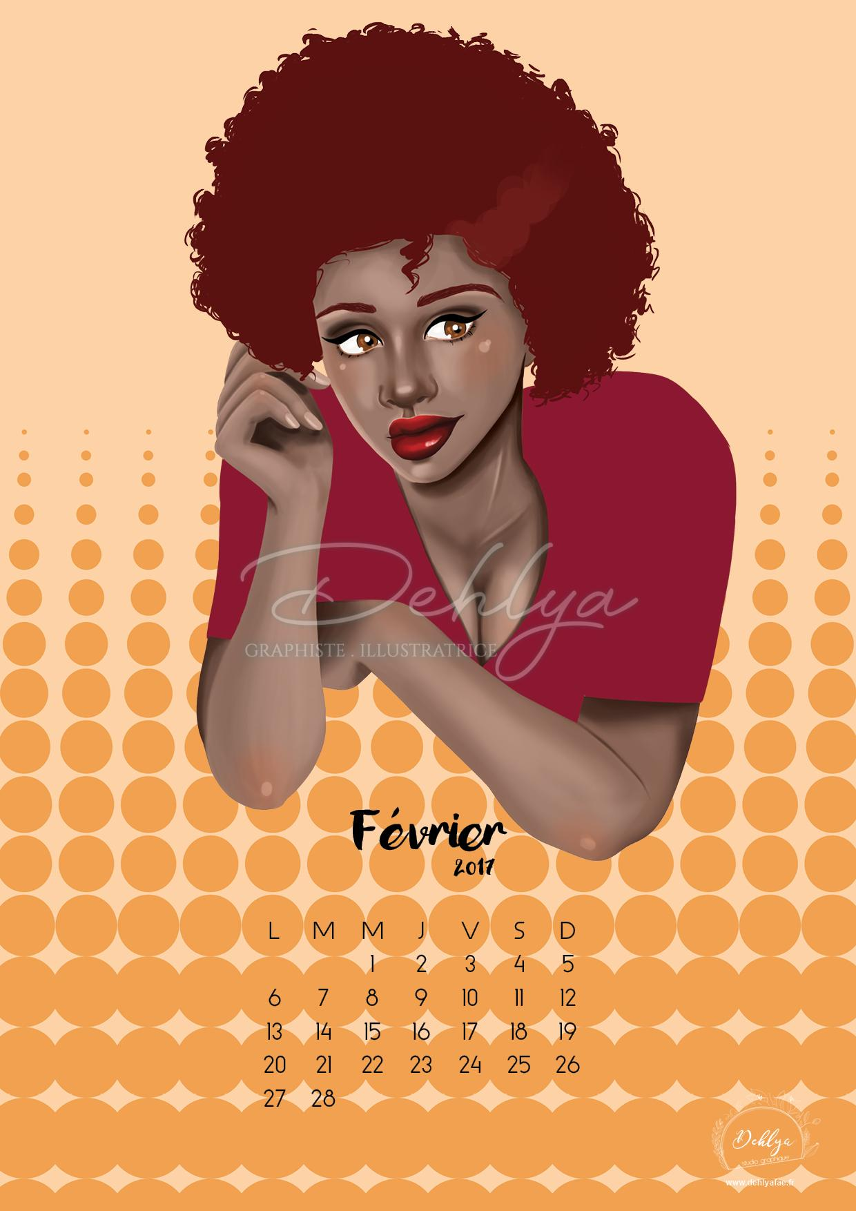 Pin up black illustration