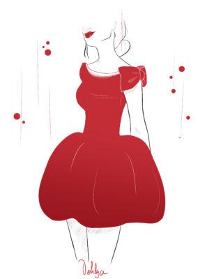 Illustration// Red dress