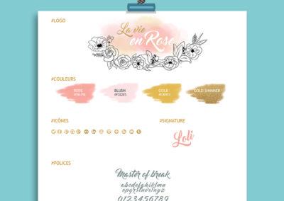 Identité Visuelle// Blog La Vie en Rose