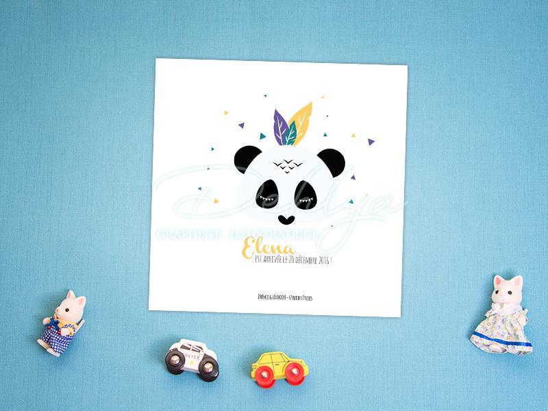 Faire-part - Panda