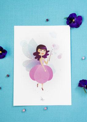 Illustration// Il était une fois… Violette la fée
