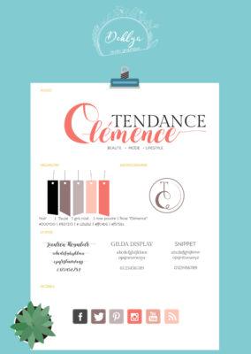 Identité visuelle// Tendance Clémence
