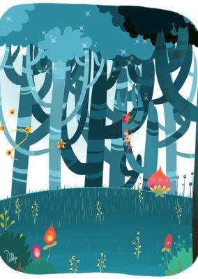 Illustration enfant// Forêt enchantée