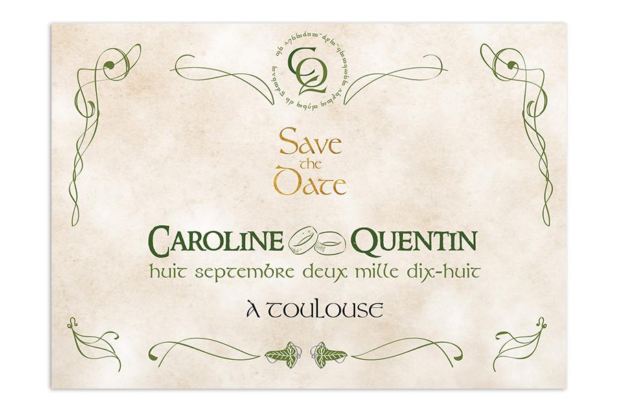 Save the Date - Seigneur des anneaux