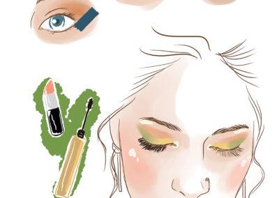 Illustration// Beauty tutoriels