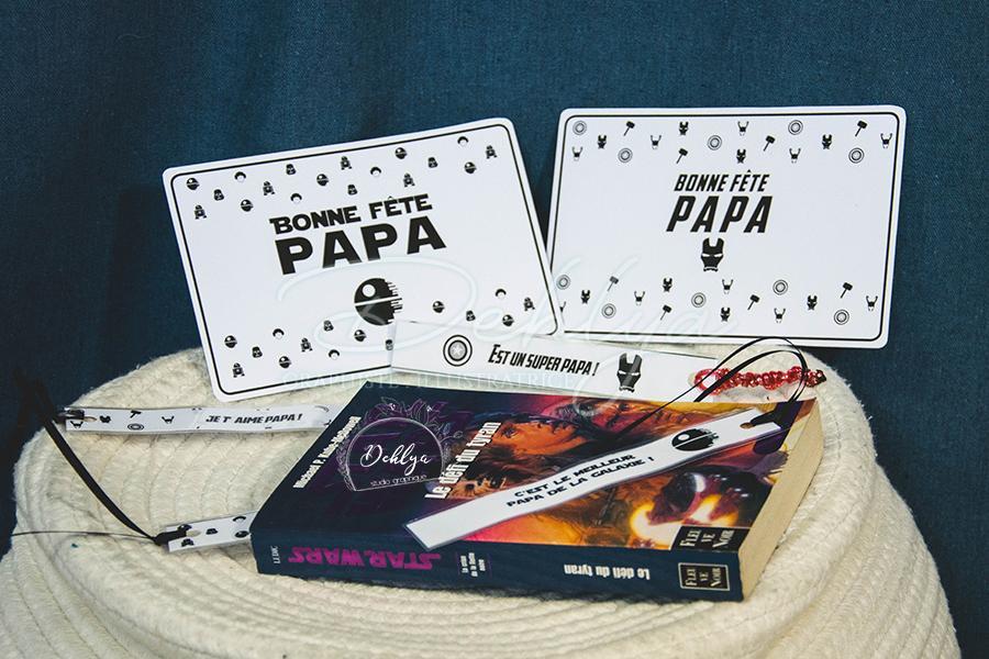 Des marque-pages et cartes Geek pour la fête des pères