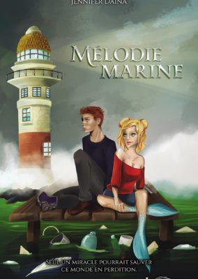 Illustration// Couverture et illustrations intérieures du roman Mélodie Marine
